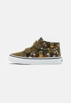 Vans - UY SK8-MID REISSUE - Sneakersy wysokie - military olive/true white
