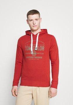 TOM TAILOR - HOODIE  - Felpa con cappuccio - chili oil red
