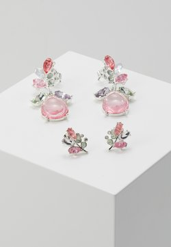 ONLY - ONLBASTA EARRING 2 PACK - Ohrringe - silver coloured/rose/pool blue