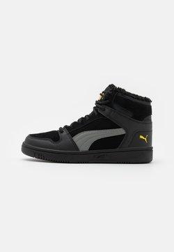 Puma - REBOUND LAYUP JR  - Sneakersy wysokie - black/ultra gray/super lemon