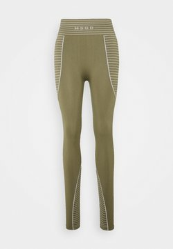 Missguided - SEAMLESS HIGH WAISTED - Leggings - khaki