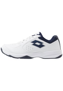 Lotto - SPACE 600 II - Multicourt Tennisschuh - all white/navy blue