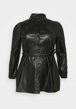 Vero Moda Curve - VMKAKCA LS LONG SHIRT CURVE - Robe d'été - black