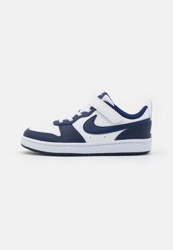 Nike Sportswear - COURT BOROUGH UNISEX - Matalavartiset tennarit - white/blue void/signal blue