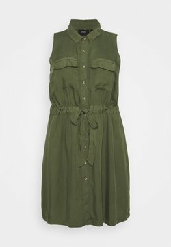 Zizzi - JTAMMY SHIRT DRESS - Freizeitkleid - kaki green