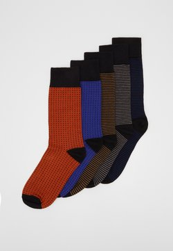 Urban Classics - STRIPES AND DOTS SOCKS 5 PACK - Socken - multicolor