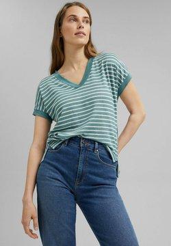 Esprit Collection - MIT STREIFEN - T-Shirt print - dark turquoise