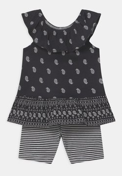 Carter's - 2-Piece Paisley Jersey Tee & Bike Short Set - Shorts - black/white