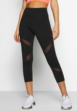 Wolf & Whistle - EXCLUSIVE CROPPED LEGGINGS - Trikoot - black