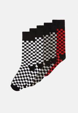 Urban Classics - CHECK SOCKS 5PACK - Socken - black/heathergrey/white