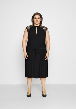 Vero Moda Curve - VMMILLA SHORT DRESS  - Juhlamekko - black