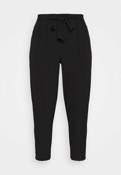 Evans - BLACK PEBBLE TIE WAIST POSH JOGGER - Pantalon classique - black