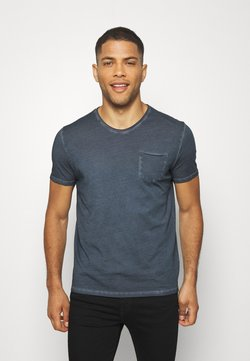 Marc O'Polo - SHORT SLEEVE RAW - T-Shirt basic - total eclipse