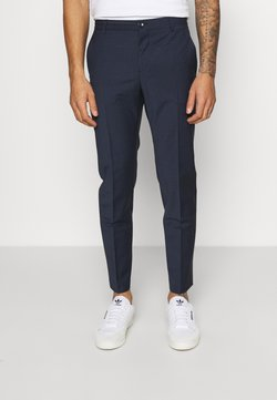 Calvin Klein Tailored - HOUNDSTOOTH PANT - Stoffhose - navy