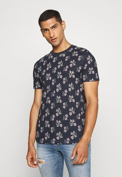 Jack & Jones PREMIUM - JPRHOLIDAY TEE CREW NECK - Print T-shirt - black iris