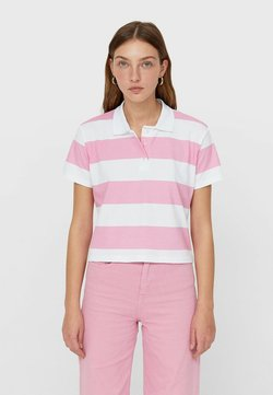 Stradivarius - Poloshirt - neon pink