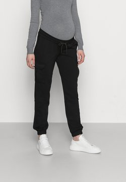 MAMALICIOUS - MLMARIE JERSEY PANTS - Pantalon de survêtement - black