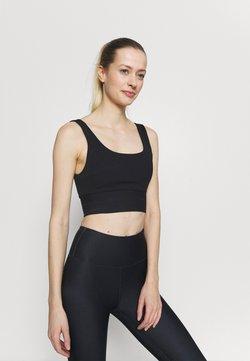 Cotton On Body - SCOOP NECK VESTLETTE - Linne - black