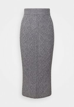 Fashion Union Tall - CABBIE SKIRT - Bleistiftrock - grey