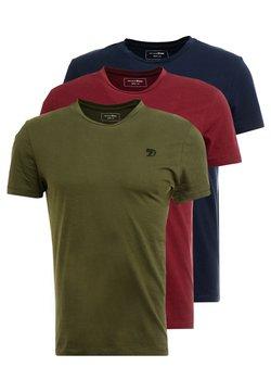 TOM TAILOR DENIM - PACKAGING 3 PACK - T-shirt basic - sky captain blue