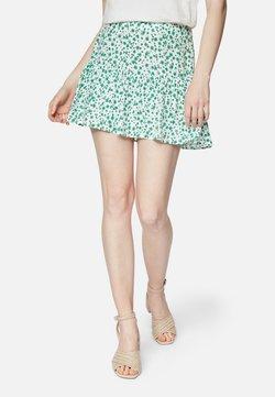 Mavi - Minirock - white green petal print