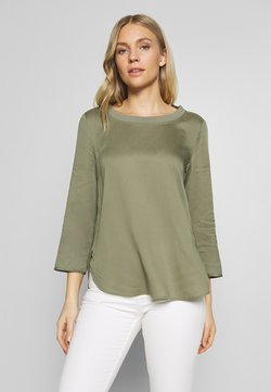 Marc O'Polo - BLOUSE CREW COLLAR SPECIAL DETAIL SEAM - Bluse - clear fern