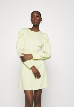 Closet - PUFF SLEEVE MINI DRESS - Vestido de cóctel - lemon