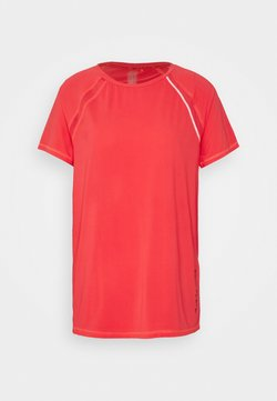 ONLY PLAY Tall - ONPPERFORMANCE TRAIN LOOSE TEE - T-shirt basic - fiery coral/black