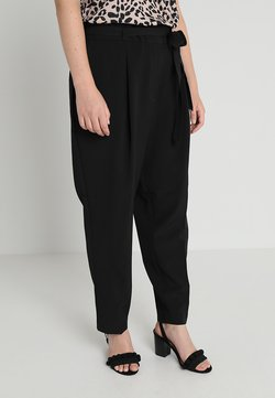 New Look Curves - MILLER PAPER BAG TROUSER - Kangashousut - black