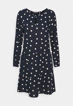 Marks & Spencer London - TIE NECK SWING - Freizeitkleid - dark blue