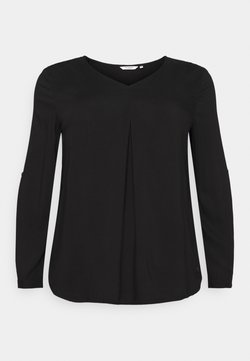 MY TRUE ME TOM TAILOR - BLOUSE WITH PLEAT - Bluse - deep black