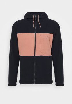 The North Face - MEN'S BLOCKED HOODIE - Veste polaire - dark blue/pink