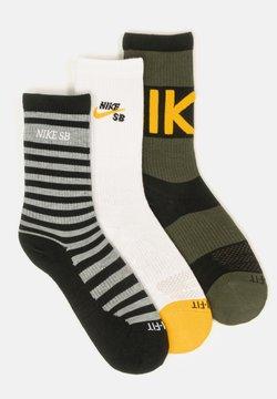 Nike SB - 3 pack - Socken - black / white / black