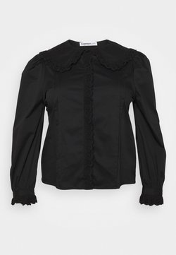 Glamorous Curve - TRIM VINTAGE BLOUSE WITH LONG SLEEVES - Camicetta - black