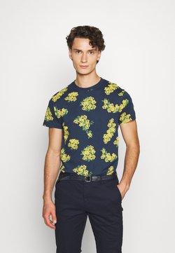 Bellfield - ELLIOT REPEAT PRINT TEE  - Print T-shirt - navy