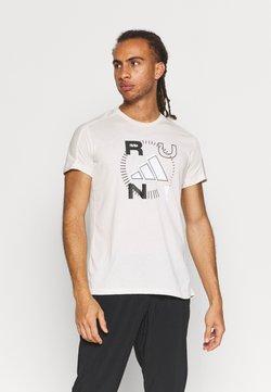 adidas Performance - LOGO GRAPHICS AEROREADY - T-shirt z nadrukiem - offwhite