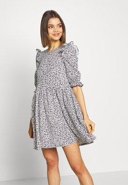 Miss Selfridge - TEXTURED MINI DRESS - Robe d'été - white