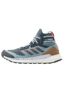 adidas Performance - FREE HIKER BOOST PRIMEKNIT SHOES - Obuwie hikingowe - legend blue/solid grey/ash grey