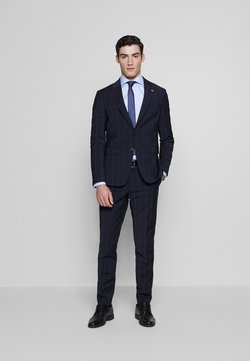 Tommy Hilfiger Tailored - SLIM FIT CHECK SUIT - Anzug - blue