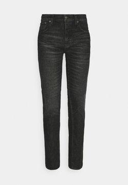 Nudie Jeans - GRIM TIM - Jeansy Slim Fit - black pixel