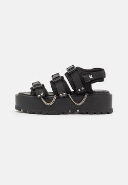 Koi Footwear - VEGAN CASCADIA CHAIN MATRIX  - Korkeakorkoiset sandaalit - black