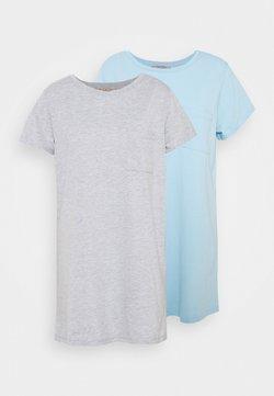 Anna Field - 2 PACK - Nachthemd - dark grey/dark blue