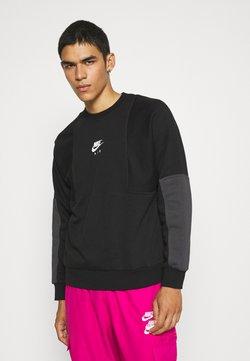 Nike Sportswear - AIR CREW - Sweatshirt - black/anthracite/white