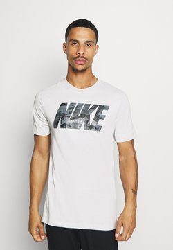 Nike Performance - DRY TEE BLOCK - Printtipaita - grey fog
