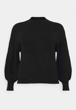 Vero Moda Curve - VMSIMONE HIGHNECK - Jersey de punto - black