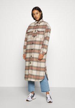 ONLY - ONLLOLLY LONG CHECK COAT - Wollmantel/klassischer Mantel - whitecap gray