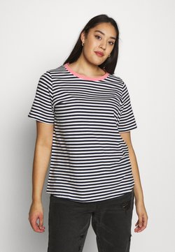 MY TRUE ME TOM TAILOR - YARN DYE STRIPES T SHIRT - T-Shirt print - navy stripe