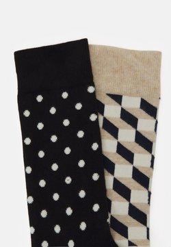 Happy Socks - FILLED OPTIC DOT - Chaussettes - dark blue/beige