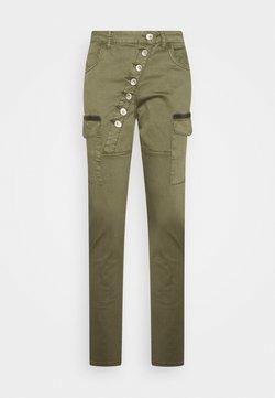 Cream - HANNAH BAIILY  - Cargo trousers - sea turtle
