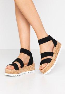 RAID Wide Fit - WIDE FIT RICO  - Korkeakorkoiset sandaalit - black